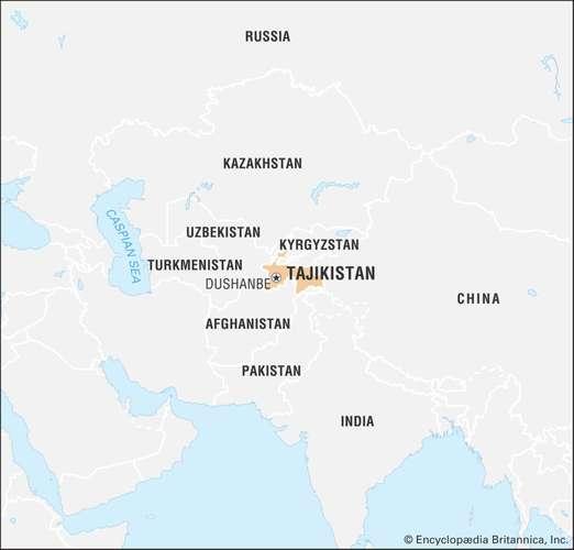 Mapa de Tayikistan