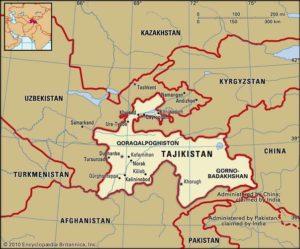 Tajikistan mapa