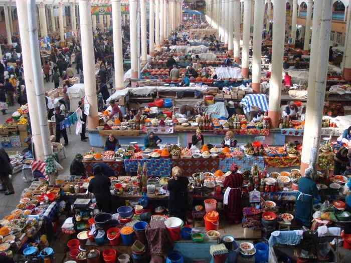 Mercado de Panjshanbe, Khujand