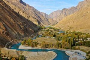 Valle de Wakhan. A la izquierda, Afganistán. A la derecha, Tayikistán. Imagen: Paseos por la Ruta de la Seda
